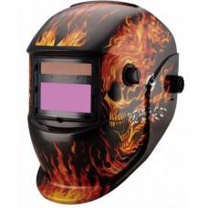 Máscara de solda modelo GW 913 Estampada Caveira para solda com regulagem de 9 a 13 e Esmerilhamento