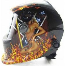 Máscara de solda modelo GW 913 Estampada Mulher para solda com regulagem de 9 a 13 e Esmerilhamento